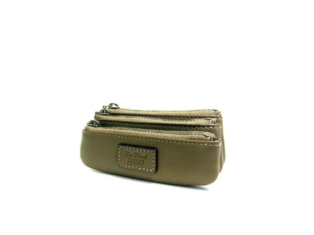 AROMA Tre-Zip Coin Pocket